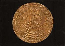 Rouen (Musée Départemental Des Antiquités) - Noble D'or D'Edouard III D'Angleterre - Monnaies (représentations)