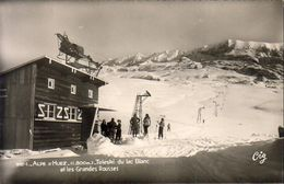 D38   ALPE D'HUEZ  Téléski Du Lac Blanc Et Les Grandes Rousses  ....... Carte Peu Courante - Autres Communes