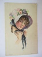 JEUNE  FEMME  AU  BONNET  ....   ALICE  LUELLA  FIDLER                  TTB - 1900-1949
