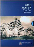 MAX2016.1 - COFFRET BU MALTE - 2016 - 1 Cent à 2 € + 2 € Temples De Ġgantija + Médaille - Malta