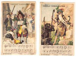 2 Chromos Judaica Judaisme  - Le Juif Errant - Chocolat Guérin - Boutron - Jodendom