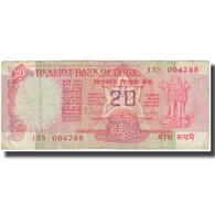 Billet, Inde, 20 Rupees, Undated (1983-84), KM:82h, TB - Inde