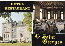 """14 OUISTREHAM - RIVA BELLA.  CPSM. HOTEL RESTAURANT. LE """" SAINT GEORGES """". INTERIEUR EXTERIEUR + TEXTE - Ouistreham"""