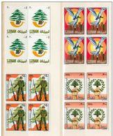 Lebanon Liban 1984 Cedar & Lebanese Army Day Complete Set Of 4 Blk Of 4 MNH Very Fine & Scare - Líbano
