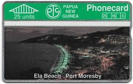 Papua New Guinea - Telikom - L&G - Ela Beach, Port Moresby - 108A - 09.1991, 25U, 15.000ex, Mint - Papouasie-Nouvelle-Guinée