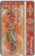 Papua New Guinea - Telikom - L&G - Pig Killing Singsing - 412B - 12.1994, 10K, 10.000ex, Mint - Papouasie-Nouvelle-Guinée