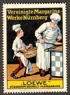 """Nürnberg 1913 """" LOEWE Margarine  """" Vignette Cinderella Reklamemarke - Cinderellas"""