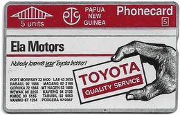 Papua New Guinea - Telikom - L&G - Toyota Ela Motors - 211B - 07.1992, 5U, 10.000ex, Mint - Papouasie-Nouvelle-Guinée
