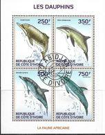 COTE D'IVOIRE 2014 DAUPHINS YVERT N°1290/93 OBLITERE - Delfines