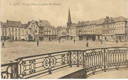 7 ATH : Grand'place Et Eglise St-Martin - Cachet De La Poste 1924 - Ath