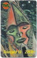 Vanuatu - Telecom Vanuatu - Mask #1, Remote Mem. 225vt, Exp.31.12.2001, Used - Vanuatu