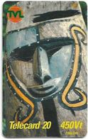 Vanuatu - Telecom Vanuatu - Mask #2, Remote Mem. 450vt, Exp.31.12.2001, Used - Vanuatu