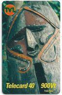 Vanuatu - Telecom Vanuatu - Mask #3, Remote Mem. 900vt, Exp.31.12.2001, Used - Vanuatu
