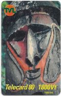 Vanuatu - Telecom Vanuatu - Mask #5, Remote Mem. 1800vt, Exp.31.12.2001, Used - Vanuatu