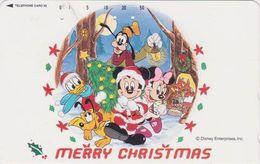 JAPAN - TC JAPON / 110-203007 - DISNEY - Série N° 19/25 - MICKEY MINNIE DONALD Lapin Limace -  CHRISTMAS Phonecard - Disney