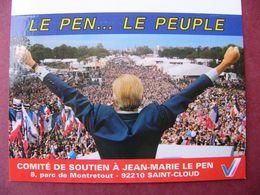 2 Calendriers FRONT NATIONAL LE PEN 1995 élections Présidentielles Voeux 2000 Tours Indre Et Loire Jean Verdon - Calendarios