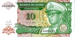ZAIRE - Banque Du Zaïre - 10 Nouveaux Makuta 24.06.1993 - Série A 4409089 A - P.51 - UNC - Zaire