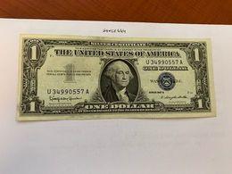 United States Washington Circulated Blue Banknote 1957 B  #54 - Nationale Valuta