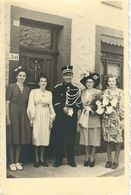 Carte Photo - Mariage D'un GENDARME BELGE En Grande Tenue - Années 195... - Polizia – Gendarmeria