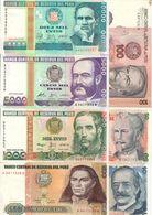 Peru Lot Set 7 Banknotes UNC .CV. - Peru