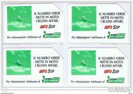 4  USATE:   £. 5.000x2 + £. 10.000x2  -  31.12.1995  -  IL  NUMERO  VERDE  AEREO - Italie