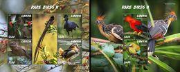 Liberia 2020, Animals, Birds II, Duck, Owl, 4val In BF+BF - Ducks