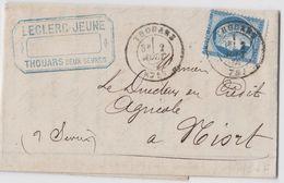 DEUX SEVRES LAC 1876 THOUARS T17 SUR CERES FIN DU GC - 1849-1876: Periodo Clásico