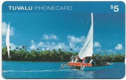 Tuvalu - Catamaran $5, OITIB, 07.1995, Used - Tuvalu