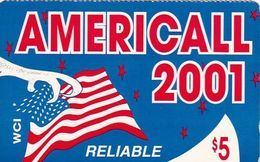 USA - Americall 2001, WorldxChange Comm/CTS Telecom Prepaid Card $5, Used - Autres