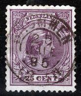 NEDERLAND   1891 25 C   KLEINROND  BRUMMEN - Used Stamps