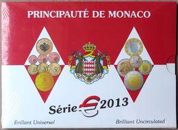 MOX2013.1 - COFFRET BU MONACO - 2013 - 1 Cent à 2 Euros - Sous Blister - Monaco
