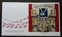 Great Britain End Of The War 2005 (miniature FDC) *unaddressed - 1952-.... (Elizabeth II)