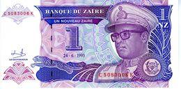 ZAIRE - Banque Du Zaïre - 1 Nouveau Zaïre 24.06.1993 - Sign. 9 - Série C 5083006 K - P.51 - UNC - Zaire