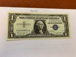 United States Washington Circulated Blue Banknote 1957 B  #55 - Nationale Valuta