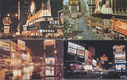 USA Formato 10x15:Cartolina TIMES SQUARE : Panoramica Con PUBBLICITA' PEPSI COLA.4 Pz.(3viagg.+1nv). - Time Square