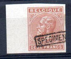 Sello De Deux Francs  Sin Dentar Y Sobrecarga Specimen Belgica. - 1883 Leopold II