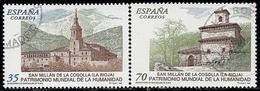 1999-ED. 3662 Y 3663-SERIE COMPLETA-BIENES PATRIMONIO DE LA HUMANIDAD. MONASTERIOS DE S. MILLÁN DE YUSO Y DE SUSO-USADO - 1991-00 Gebraucht