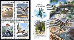 Sierra Leone 2020, Animals, Flying Dinosaurus, 4val +BF - Sierra Leone (1961-...)