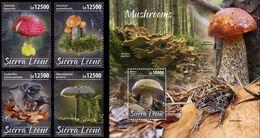 Sierra Leone 2020, Moshrooms, 4val +BF - Sierra Leone (1961-...)