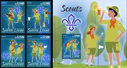 Sierra Leone 2020, Scout, 4val +BF - Sierra Leone (1961-...)