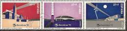 1992-ED. 3215 A 3217-EN TIRA.BARCELONA'92 SERIE OLIMPICA-USADO - 1991-00 Gebraucht