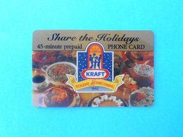 SPRINT - Kraft - 45. Minute (Usa Prepaid Phone Card) Prépayée Carte Carta Prepagata Remote GSM United States Of America - Vereinigte Staaten