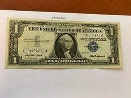 United States Washington Circulated Blue Banknote 1957  #56 - Nationale Valuta