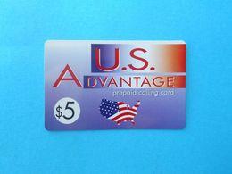 US Advantage $5 (Usa Prepaid Phone Card) Calling Prépayée Carte Carta Prepagata Remote GSM United States Of America FLAG - Autres