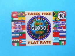 GLOBO $10 (Usa Prepaid Phone Card) Calling Prépayée Carte Carta Prepagata Remote GSM United States Of America FLAG - Autres