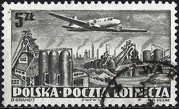 Poland 1952 - Mi 731A - YT Pa 31 ( Airplane Illiouchine II-12 Over Nowa Huta ) - Poste Aérienne