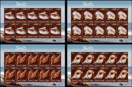 Sierra Leone 2020, Shells, 4sheetlets - Sierra Leone (1961-...)