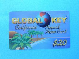 GLOBAL KEY - California - $20 ( Usa Prepaid Phone Card ) Calling Card Prépayée Carte Carta Prepagata Remote GSM - Autres