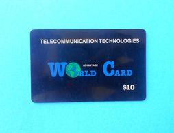 WORLD CARD - $10 ( Usa Prepaid Phone Card ) Calling Card Prépayée Carte Carta Prepagata Remote GSM - Autres
