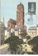 FDC Carte 1 Jour  Le 10 Juin 1967 N° 1504 Rodez Clocher La Cathédrale Aveyron - FDC